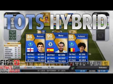 BPL TOTS Hybrid Squad Builder! - TOTS Mata, Fellaini, Baines and Zabaleta - FIFA 13 Ultimate Team
