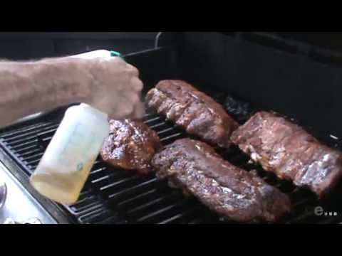 Setup for Grilling Ribs on a Gas Grill