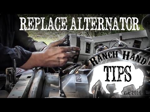 Ford Truck (F150.F250.F350) Alternator Replacement - Ranch Hand Tips