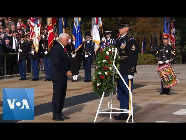US Vice President Mike Pence Honors Veterans at Arlington Cemetery