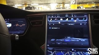 Inside the Tesla Model S P85D - Entertainment and Displays