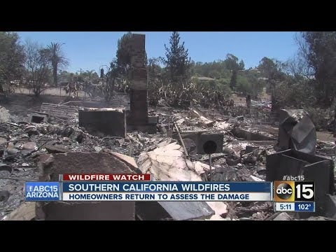 Southern California wildfires continue to rage