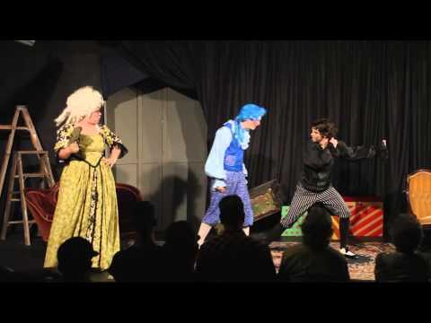 Tartuffe Commedia at the Emporium in Woodville, Tx. Aug. 10, 2014