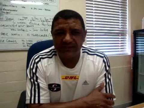 Coetzee update on Stormers pre-season training - A.Coetzee update on Stormers pre-season training
