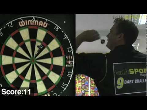 Darren Gough takes the 9 dart challenge