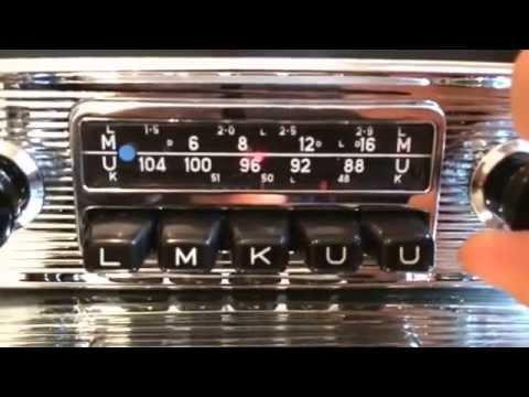 Chromelondon BLAUPUNKT FRANKFURT 12V+/-  NOS NEW OLD STOCK VINTAGE RADIO WITH FULL MP3 CONNECTIVITY