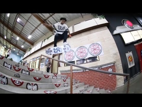 SCARIEST HANDRAIL TRICK EVER ??!! BACK FOOT LATE FLIP BOARD SLIDE WITH DEON HARRIS