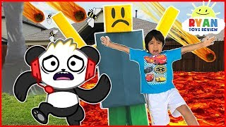 ROBLOX Natural Survival Disaster In Real Life + Combo Panda Gaming Family Fun kids Pretend Playtime