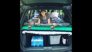 DIY cheap easy minivan caravan camper conversion