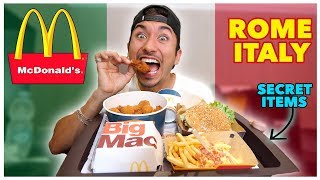 Tasting McDonalds In Rome Italy! (International Menu)