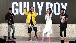 Live Ranveer Singh 39 S Amazing Rap On Asli Hip Hop Song At Gully Boys Trailer Launch