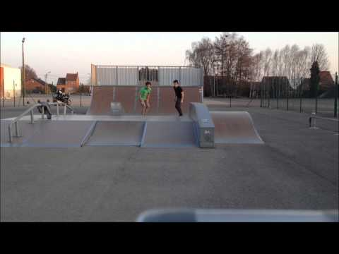 Two Dudes, One 360 Flip