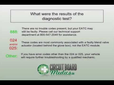 Ford EATC Diagnostic Test (Self-Test) Procedure for Electronic Automatic Temperature Control Modules