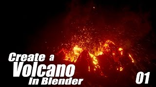 Create a Volcano Eruption in Blender - 01 : Terrain & Particles
