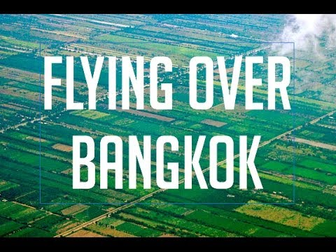FLYING over BANGKOK THAILAND with QATAR Airways Flight & Landing at Suwannaphum Airport BKK