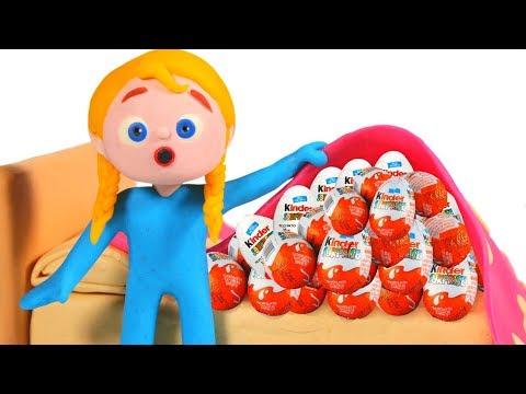 SUPERHERO BABIES & THE KINDER SURPRISE ❤ Superhero Babies Play Doh Cartoons For Kids