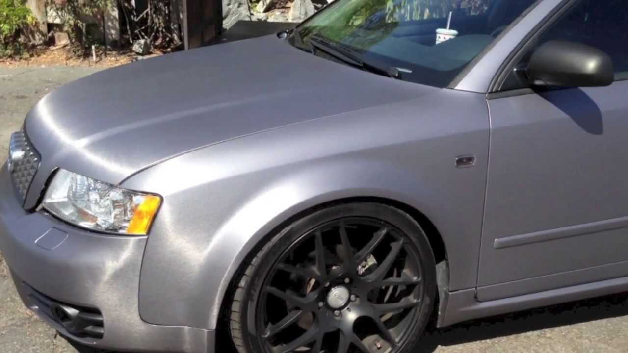 Audi A4 Brushed Steel Amp Matte Black Vinyl Wrap Youtube