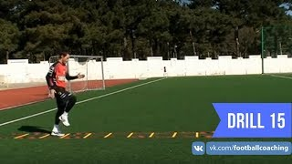 Football coaching video - soccer drill - ladder coordination (Brazil) 15