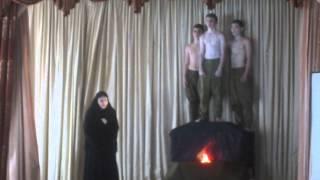 Театрализованная постановка на стихи Р.Рождественского(отрывок)