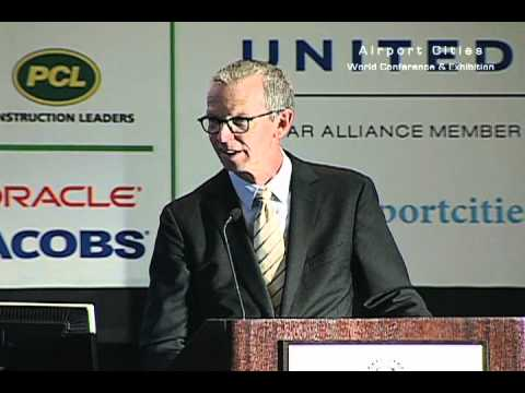John Martin, airport director at San Francisco International Airport, talks at ACE 2012