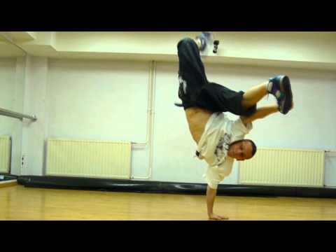 One Hand Freez Tutorial Break Dance Jump Step Crew Dance Academy video