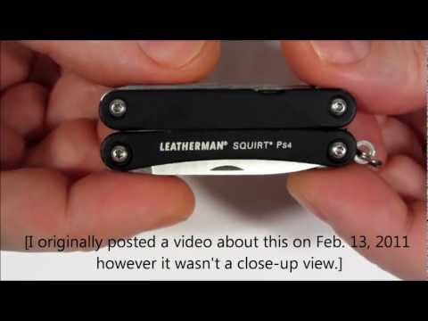 Leatherman Squirt Ps4 Secret Pin Storage Hole video