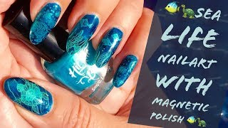 🐢🐠SEA LIFE NAILART with Magnetic Polish - How to - DIY🐢🐠