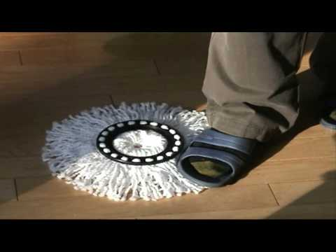 How to Remove or Hook up the Spin Mop Head Hands-free
