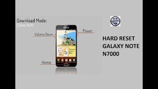 Hard Reset do Samsung Galaxy Note GT-N7000 16GB