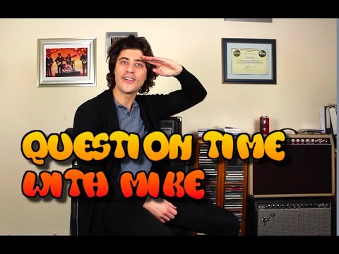Microphones for recording, Working in Guitar Shop, Music books - Question Time With Mike