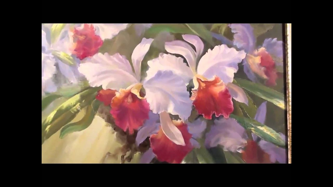 Youtube Painting Flowers With Oil