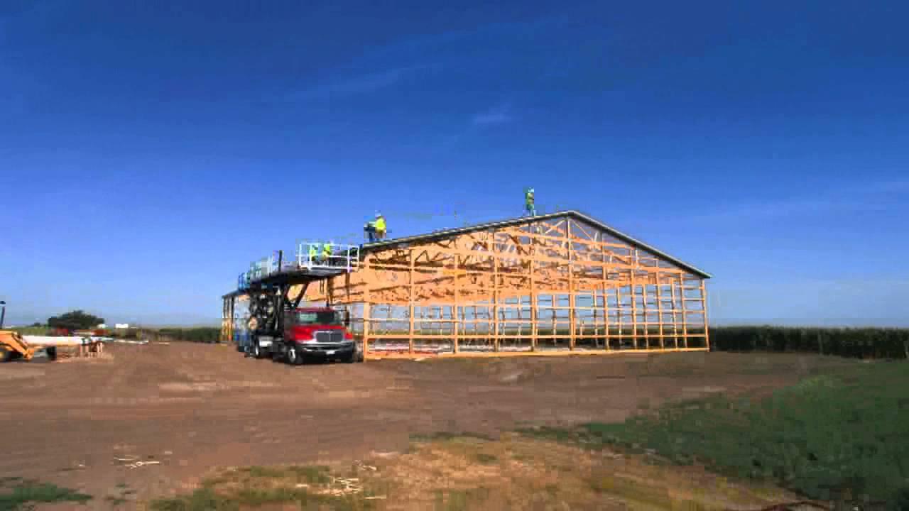 Morton Buildings Construction Time Lapse - YouTube