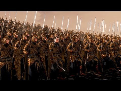 Saurons Mordor Orcs Vs Elronds Elves   19,000 Unit Cinematic Battle   Total War Rise of Mordor