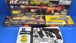 Box of Toys ! Kids Toys - Military & Police Gun Toys Equipment-Video for Kids
