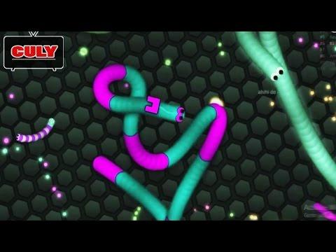 Slither.io - Rắn săn mồi chơi xoay vòng tròn giết rắn to - cu lỳ chơi game #23 - funny gameplay