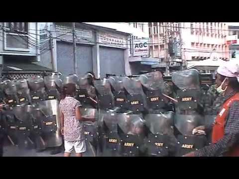 Thai Protest in Bangkok, Thailand, April 13, 2009