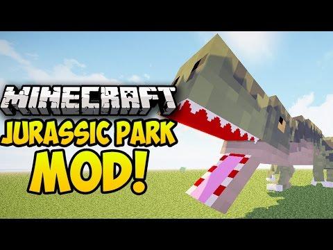 Minecraft Mods: JURASSIC PARK MOD! (DINOSAURS. FOSSILS. JURASSICRAFT MOD) (Minecraft Mod Showcase)