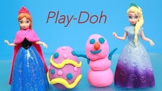 Elsa Gives Anna PLAY-DOH Spring Eggs Early Easter Present for Disney Frozen Princess Anna