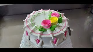MARUTHI ONLINE FOOD MAKING | HOW TO MAKE EASY CAKE DECORATE | SIMPLE AND EASY DECORATE WATCH IT