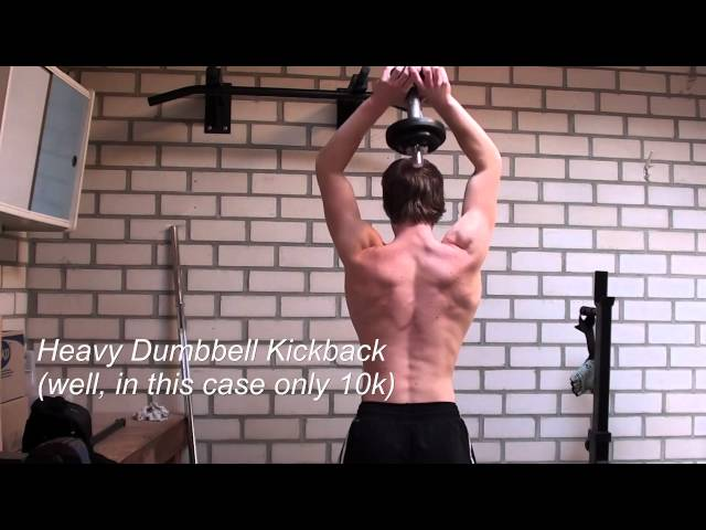 Bigger Arms with Dumbbell Triceps Exercises: Variety is Often Easy to Apply!