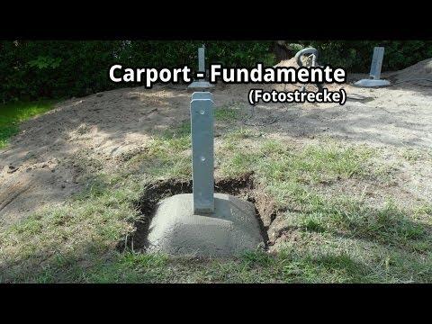 Carport-Bau - Fundamente und H-Anker (Fotostrecke)