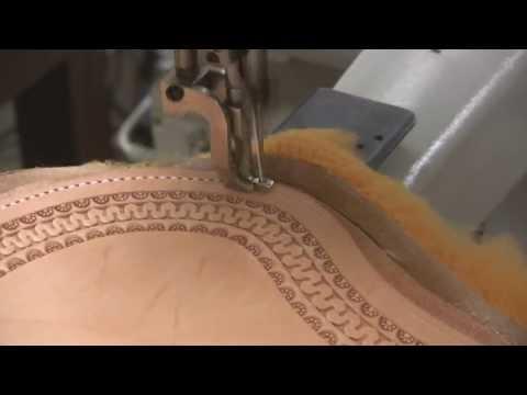 Leather sewing machine for saddle making and stitching custom saddles