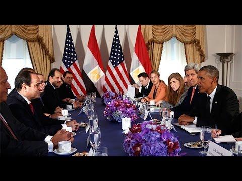 لقاء الرئيس السيسي والرئيس باراك اوباما فى اجتماعات نيويورك