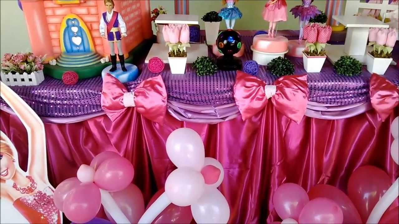 Decora??o da Barbie e as Sapatilhas Magicas - Big Festa ...
