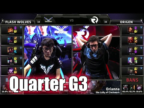 Origen vs Flash Wolves Game 3 | Quarter Finals LoL S5 World Championship 2015 | FW vs OG G3 Worlds