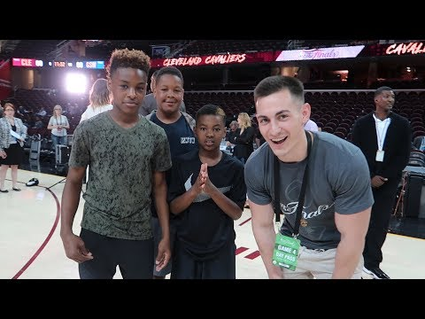 MEETING LEBRON JAMES JR AT THE NBA FINALS!