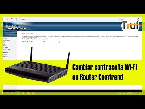 Router Comtrend(Jazztel)   Cambiar contraseña Wi-Fi. Tutorial en Español