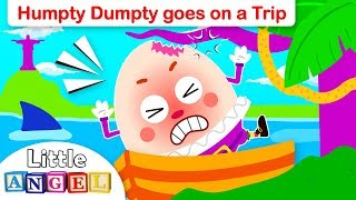 Humpty Dumpty (Special Interactive Version) | Little Angel Nursery Rhymes and Kids Songs