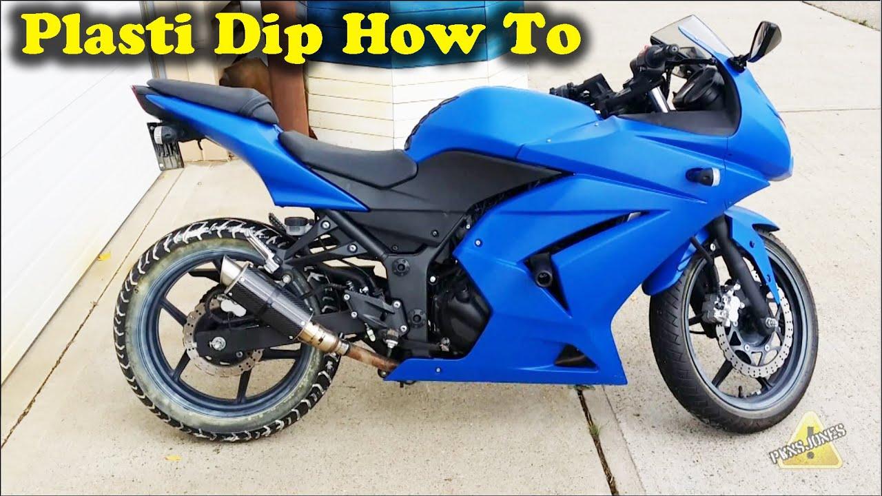 How To Plasti Dip Motorbike Ninja 250 Youtube