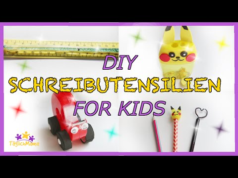 BACK TO SCHOOL - DIY Schreibutensilien for Kids (Pikachu...)! - desk ideas for kids / TäglichMama